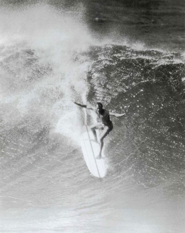Phil Edwards on the first day Pipe was ridden, 1961. Phil was very quiet, really talented, had the best style and grace. Everybody admired him. He was tall and skinny with huge feet - I always figured that probably helped him.