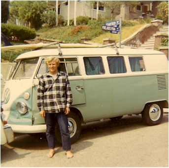 Bill, as the epitome of a cool surfer dude, Summer of '69.