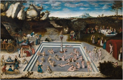 """""""The Fountain of Youth"""" by Lucas Cranach the elder (1546)."""